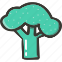 broccoli, food, fresh, plant, veggie icon