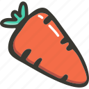 carrot, food, green, plant, veggie icon