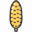 corn, food, fresh, plant, veggie icon