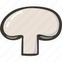 food, fresh, mushroom, plant, veggie icon