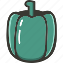 food, fresh, pepper, plant, veggie icon