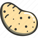 food, fresh, plant, potato, veggie icon