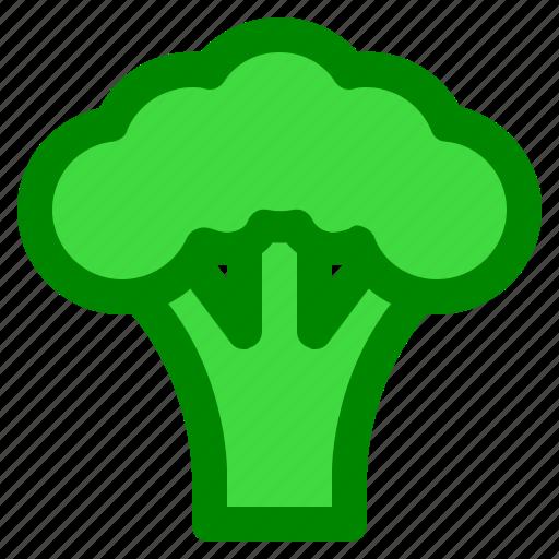 broccoli, food, vegetable icon