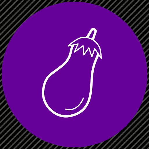 eggplant, food, ingredient, vegetables icon
