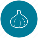 food, garlic, ingredient, vegetables icon