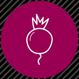 beets, food, ingredient, radishes, vegetables icon