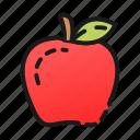 apple, cook, dessert, fruit, healthy, kitchen, red icon