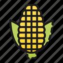 cook, corn, farm, healthy, kitchen, vegetable, yellow icon