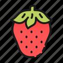 dessert, food, fruit, kitchen, red, strawberry