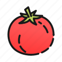 food, fruit, red, salad, tomato, vegetable icon