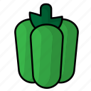 bell, food, fruit, pepper, vegetables icon