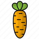 carrot, food, fruit, vegetables icon