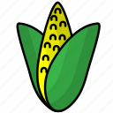corn, food, fruit, vegetables icon