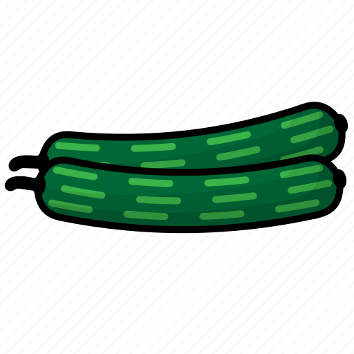cucumber, food, fruit, vegetables icon