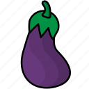 eggplant, food, fruit, vegetables icon