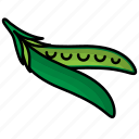 bean, food, fruit, green, vegetables icon