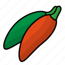 food, fruit, pepper, vegetables icon