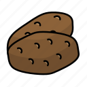 food, fruit, potato, vegetables icon