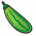 food, fruit, vegetables, zucchini icon
