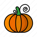 food, fruit, pumpkin, vegetables icon