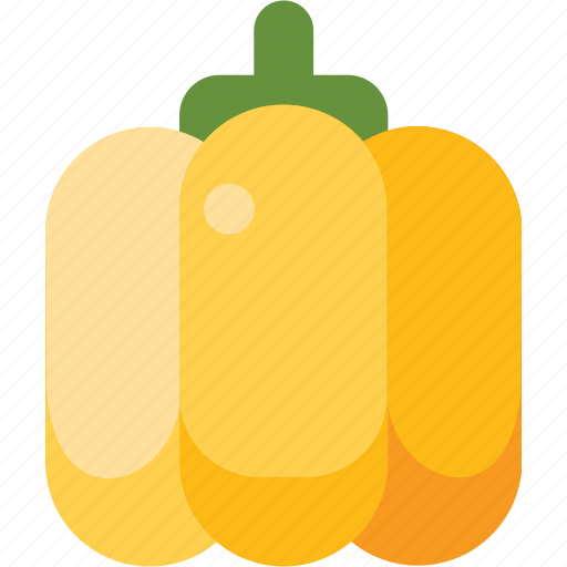 bell, food, pepper, vegetable, yellow icon