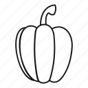 fresh, line, outline, pepper, sweet, vegetable, vegetarian icon
