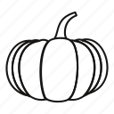 autumn, decoration, line, outline, pumpkin, seasonal, thanksgiving icon