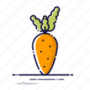 carrot, cooking, food, kitchen, meal, plant, vegetables icon