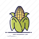 cooking, corn, food, kitchen, meal, vegetables icon