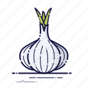 cooking, food, garlic, kitchen, meal, plant, vegetables icon
