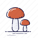 cooking, food, kitchen, meal, mushroom, plant, vegetables icon