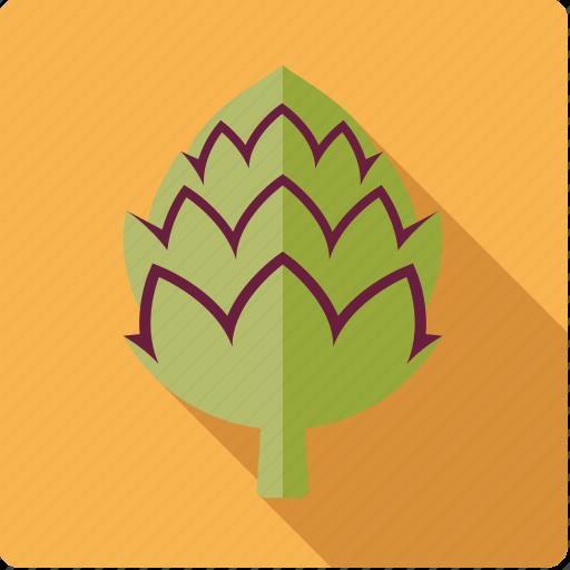 artichoke, bud, food, vegetable, vegetarian icon