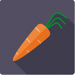 carrot, food, root, vegetable, vegetarian icon