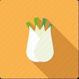 bulb, fennel, food, vegetable, vegetarian icon
