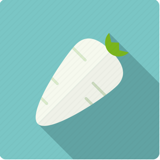 food, horseradish, radish, root, vegetable, vegetarian icon