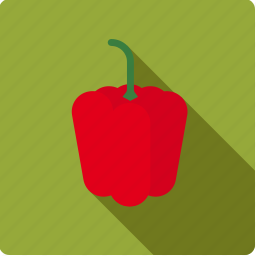 bell, food, pepper, red, vegetable, vegetarian icon