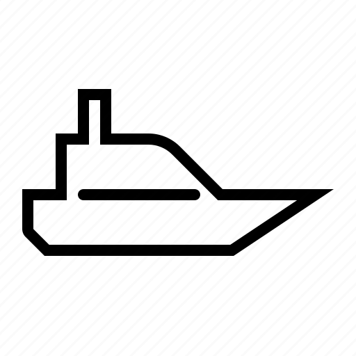 boat, canoe, ship, transport, vehicle, vessel icon