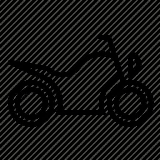 motorbicycle, traffic, transport, vehicle icon