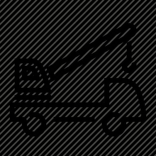 crane truck, lift, move, vehicle icon