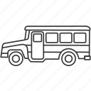 bus, land, transportation, vehicle icon