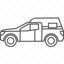 camp, car, land, transportation, vehicle icon