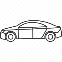 car, land, sedan, transportation, vehicle icon