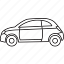 car, land, transportation, vehicle icon