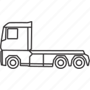 head, land, transportation, truck, vehicle icon
