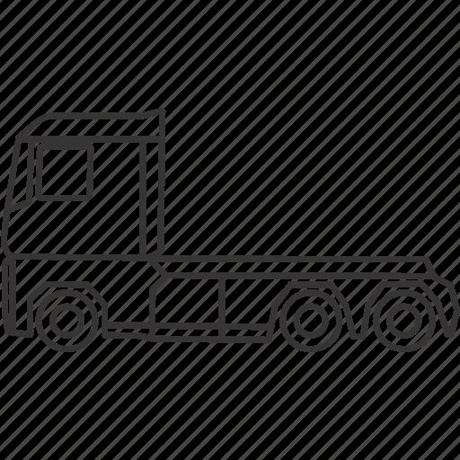 head, land, transportation, truck, vehicle icon