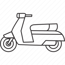land, motorcycle, scooter, transportation, vehicle icon