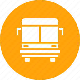 bus, public, school, transport, travel, vehicle icon