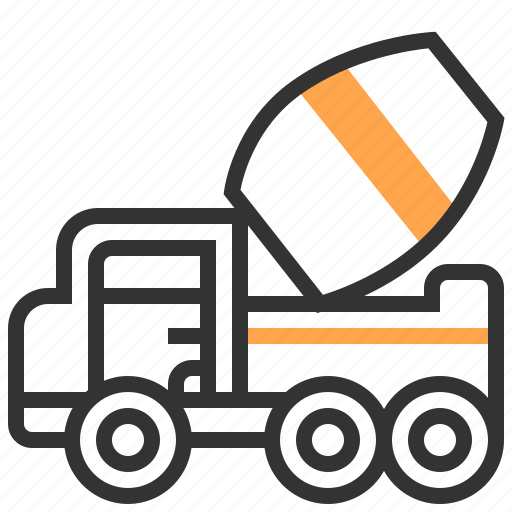 auto, automobile, car, cement, transport, transportation, vehicle icon