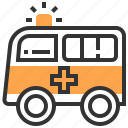ambulance, auto, automobile, car, transport, transportation, vehicle icon