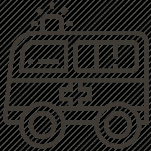 ambulance, auto, automobile, car, transport, transportation, vehicle icon